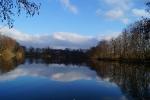 magnifique paysage étang evrieu